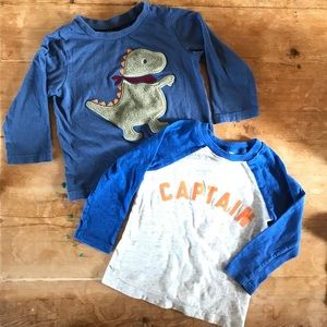 Toddler Shirt Set Captain + Dinosaur 18-24 Months